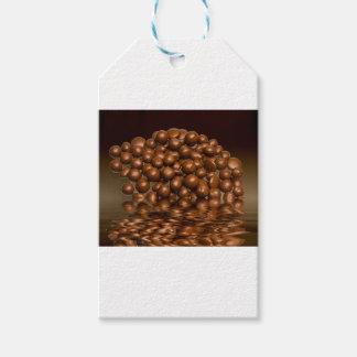 Étiquettes-cadeau Se délecte des bonbons à chocolat
