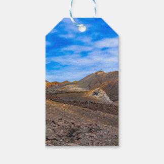 Étiquettes-cadeau Sierra paysage de Negra, Galapagos, Equateur