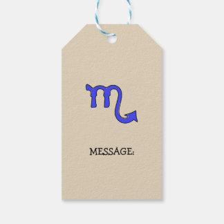 Étiquettes-cadeau Symbole de Scorpion