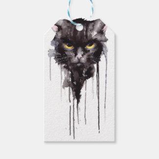 Étiquettes-cadeau T-shirt fâché de chat