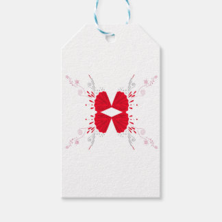 Étiquettes-cadeau Tatouage d'ailes de conception sur le blanc
