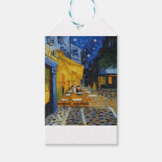 Étiquettes-cadeau Terrasse de Café le nuit de Vincent Van Gogh