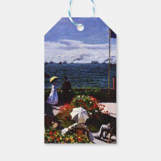 Étiquettes-cadeau Terrasse de Claude Monet-The chez Sainte-Adresse
