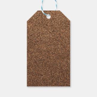 Étiquettes-cadeau texture de poivre noir