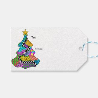 Étiquettes-cadeau Torsion d'arbre de Noël