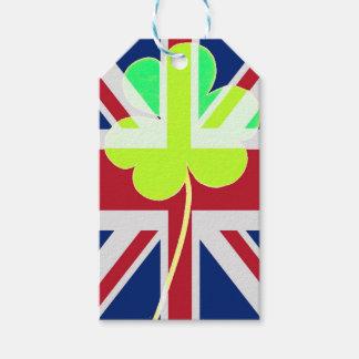 Étiquettes-cadeau Trèfle britannique irlandais St Patrick R-U de