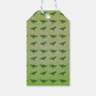 Étiquettes-cadeau Vert de papillon+bleu