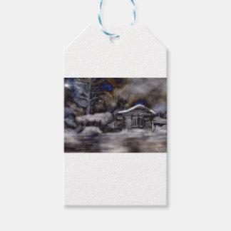 Étiquettes-cadeau Vieil art de cabine