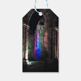 Étiquettes-cadeau Vieille nuit ruinée d'abbaye de Whitby de voûtes