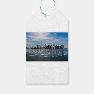 Étiquettes-cadeau Ville Manhattan de New York City d'horizon de New