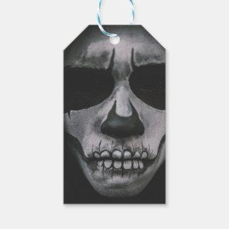 Étiquettes-cadeau Visage effrayant noir et blanc…