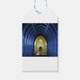 Étiquettes-cadeau Voûtes dans l'église bleue