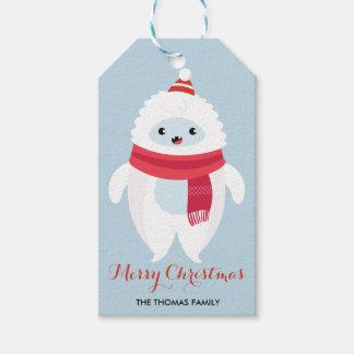 Étiquettes-cadeau Yeti de Noël de l'étiquette   de cadeau de Noël