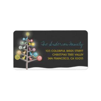 Étiquettes colorés de vacances d'arbre de Noël