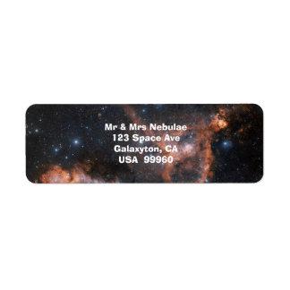 Étiquettes d'astronomie d'espace
