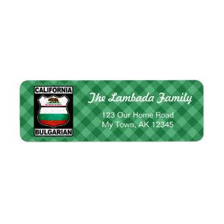 Étiquettes de adresse américains bulgares de la