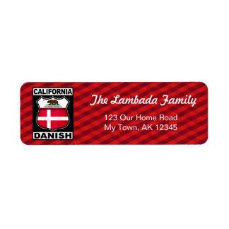 Étiquettes de adresse américains danois de la
