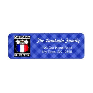 Étiquettes de adresse américains français de la