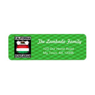 Étiquettes de adresse américains hongrois de la