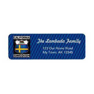 Étiquettes de adresse américains suédois de la