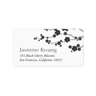 Étiquettes de adresse asiatiques de mariage de