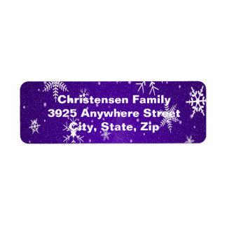 Étiquettes de adresse bleus de retour d'arrière -