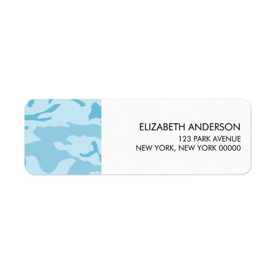 Étiquettes de adresse bleus de retour de camouflag