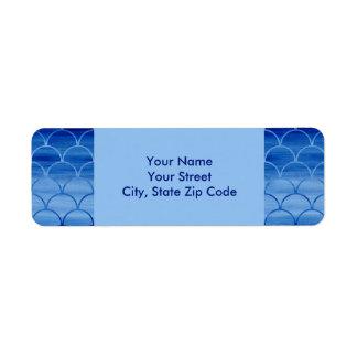 Étiquettes de adresse bleus peints de retour de
