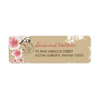 Étiquettes de adresse chics de mariage de ketmie