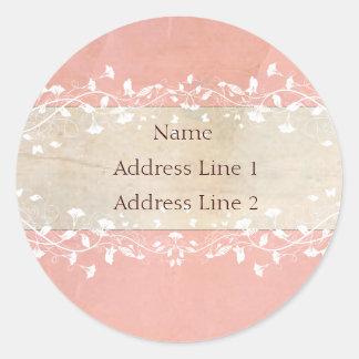 Étiquettes de adresse chics minables