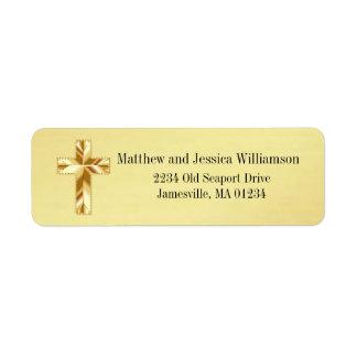Étiquettes de adresse chrétiens de retour de croix