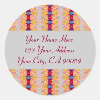 Étiquettes de adresse colorés de rubans