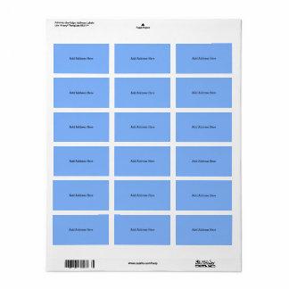 Étiquettes de adresse coordonnés bleus de tableau
