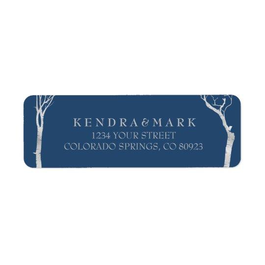 Étiquettes de adresse d'arbre de bouleau argenté