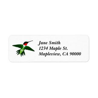 Étiquettes de adresse de colibri