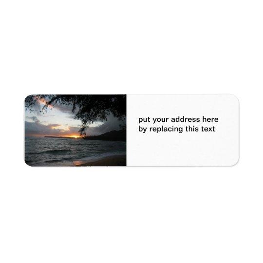 Étiquettes de adresse de coucher du soleil