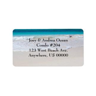 Étiquettes de adresse de coutume de plage et