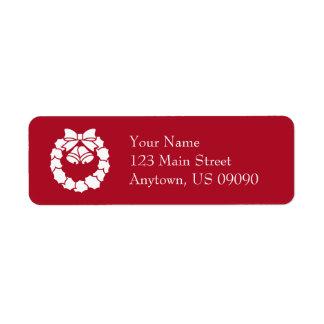Étiquettes de adresse de guirlande de Noël
