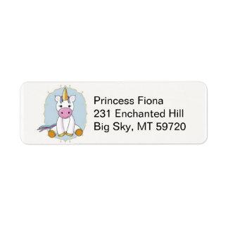 Étiquettes de adresse de licorne