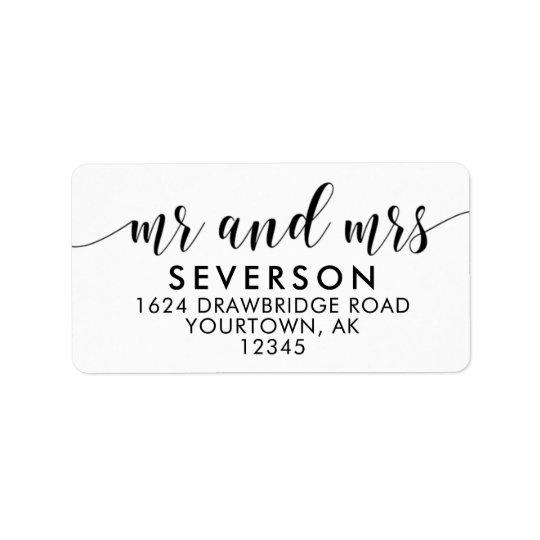 Étiquettes de adresse de M. et de Mme Mailing