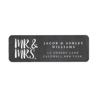 Étiquettes de adresse de M. et de Mme Return de