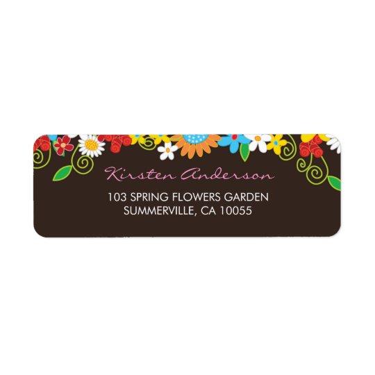 Étiquettes de adresse de mariage de jardin de