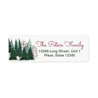 Étiquettes de adresse de Noël   de vacances des