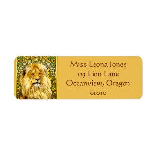 Étiquettes de adresse de Nouveau Lion d'art