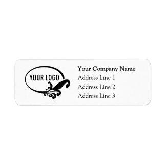 Étiquettes de adresse de retour d'affaires avec le