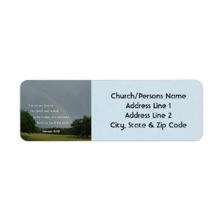 Étiquettes de adresse de retour d'arc-en-ciel de