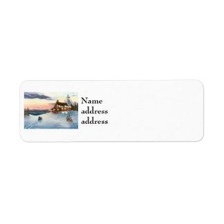 Étiquettes de adresse de retour d'Avery de coucher