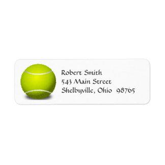 Étiquettes de adresse de retour de balle de tennis