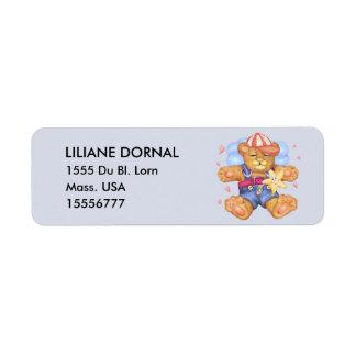 Étiquettes de adresse de retour de BANDE DESSINÉE