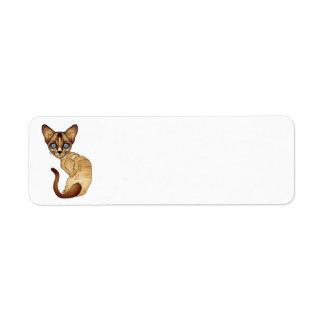 Étiquettes de adresse de retour de chat siamois